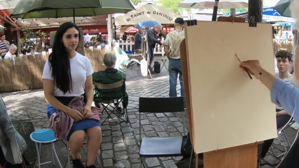 psychic street artist sketches peoples soul mates